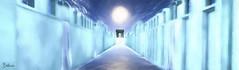 Heaven's Gate (Bellissa Dion) Tags: sl second life heaven gate blue cloud light sun path arch art painting religious religion