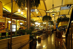 En El Nacional (Fnikos) Tags: restaurant bar architecture seat table light lamp decoration area space plant palmtree night nightview nightshot nature people indoor