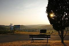 _MG_3421bLS - 28.08.2019 (hippo1107) Tags: konz oberemmel konzertälchen sonnenuntergang sunset sommer august 2018 abendrot abendstunde radfahren wandern ausruhen entspannen aussicht weinberge wiesen felder grün landschaft landschaftsfotografie marienkapelle kapelle chapbel canoneos70d canon eos 70d bank bench wanderweg ruhe stille