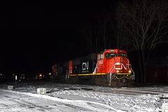 CN 5668 St Albans, VT (ERIE1960) Tags: railroad railfan trains locomotive canadiannational newenglandcentral vermont vermontrailroads stalbansvt trainsinsnow nightphotography