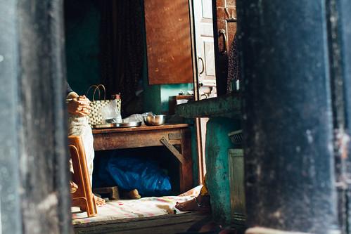 Folded Hands in Doorway, Varanasi India