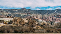 Fairy Chimneys (@see1st) Tags: turkey cappadocia landscape nature mountains sonya7s sony travel adventure goreme explore mountain canyon sky grass rock mountainside