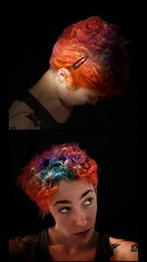 """""""sorting through a million pictures"""" (oostumbleineoo) Tags: mentalhealth static growth identity diptych sorting things photos objects organization hairdye tryingtoholdontosomething tryingtoremembershe remembered forgotten timelines multicolored multicoloredhair"""