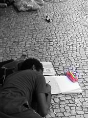 Writer 4 / Escritor 4 (-Davi-) Tags: escritor writer street rua compulsão compulsion doença mental disorder pessoas people rio de janeiro homeless morador bw monocromático gente brasil brazil