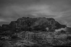 Utö-0669 (Christophe La Rocca) Tags: 2018 lestracesdelhomme noiretblanc pointillisme nature outdoor sweden travel dark femme bnw black blanc bâtiment noir abandon archéologie angoisse regard ruines