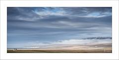 The World Below III (Frank Hoogeboom) Tags: roadside onderweg iceland ijsland scandinavia travel panorama color landscape clouds sky mountains house red roof scenic dramatic soft autumn vista