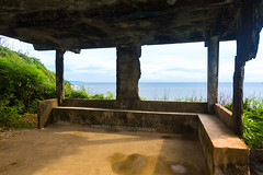 An abandoned building hall with seaview on the cliff over the sea, Koh Proet (Laem Sing District), Chanthaburi. (baddoguy) Tags: abandoned adventure backgrounds bar counter broken built structure cliff cloud sky color image construction frame copy space corridor discovery empty escape flooring grass green high angle view hill horizon horizontal indoors landscape mountain no people outdoors pavilion photography rural scene scenics nature sea seascape seat shadow summer sunlight tall thailand travel destinations tropical climate unusual window