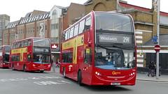 Double Double Decked (londonbusexplorer) Tags: goahead london adl enviro 400 e261 sn62dde e265 sn62dfx 291 queen elizabeth hospital woolwich woodlands estate tfl buses