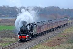 44871 LMS Stanier Class 5 4-6-0 (1945) (Roger Wasley) Tags: 44871 lms stanier class 5 460 the express lower moor cathedrals steam locomotive train railway black5 londonmidlandandscottishrailway