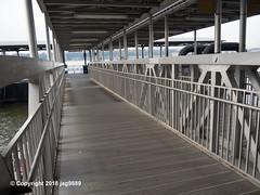 Midtown / West 39th Street Ferry Terminal Passenger Boarding Bridge (North) on the Hudson River, New York City (jag9889) Tags: 2018 20181101 al aluminium aluminum bridge bridges bruecke brücke clinton crossing ferryterminal footbridge fussgängerbrücke gangway hudsonriver infrastructure manhattan ny nywaterway nyc newyork newyorkcity north outdoor pedestrianbridge pier pier79 pont ponte puente punt river span structure usa unitedstates unitedstatesofamerica water waterway jag9889
