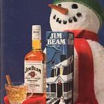 1983 Jim Beam Whiskey Christmas Advertisement Playboy January 1983 thumbnail