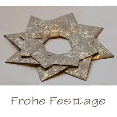 Frohe Festtage (steffi's) Tags: weihnachtsstern origamistar origamistern modularorigami star stern weihnachtskarte papier paper