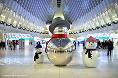 Snowmen (Trish Mayo) Tags: snowmen sculptures oculus reflections christmas holidays