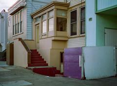 Sunset District // San Francisco (bior) Tags: pentax645nii pentax645 pentax 645 mediumformat 120 cinestill50d cinestill sanfrancisco sunsetdistrict house home stairs
