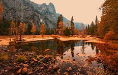 Smokey Yosemite (Rennett Stowe) Tags: yosemite yosemitenationalpark yosemitevalley trees tree lake fall autumn californiawildfires californiasmoke yosemitesmoke smokefilledair