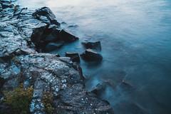 Lake Superior Rocky Shore - Minnesota (Tony Webster) Tags: cascaderiverstatepark lakesuperior minnesota northshore longexposure rocks rocky rockyshore rockyshores waves grandmarais unitedstates us