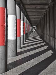 Stormgade Colonnade (RobertLx) Tags: stormgade copenhagen denmark scandinavia europe city street column arcade perspective architecture nationalmuseumofdenmark museum colonnade granite lines shadow