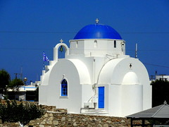 Agia Marina - Church in Antiparos (dimaruss34) Tags: newyork brooklyn dmitriyfomenko image sky greece antiparos church agiamarina churchofagiamarina cross flag bell