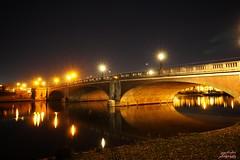 Hampton Court Bridge (psychosteve-2) Tags: hampton court bridge long time exposure reflection thames night