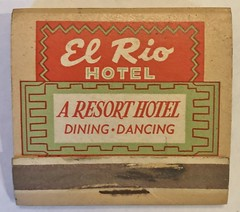 EL RIO HOTEL ANTIOCH CALIF (ussiwojima) Tags: elriohotel hotel motel antioch california advertising matchbook matchcover