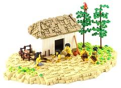 Myzec House (Ayrlego) Tags: brethrenofthebrickseas bobs myzec myzectlan aztec lego house