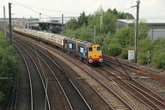 20305+20308 Dallam, Warrington , Cheshire (Paul Emma) Tags: uk england railtour choppertopper 37419 20305 20308 cheshire warrington dallam railway railroad