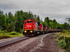 Chugging FDL's (Elijah J. Jackson (EJ)) Tags: diesellocomotives diesel dmir iron range railroad railroadphotography photography photo railroadtracks rails rail cn canadiannational dash8 ge class 1 tracks train transportation trains trees forest minnesota cnw c408w