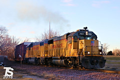 UP 793 Leads NB Switcher Iowa Falls, IA 12-23-18 (KansasScanner) Tags: iowafalls ackley iowa bradford train railroad csx cn up iarr