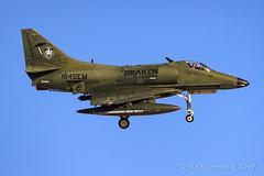 Douglas A-4K Skyhawk from Draken International (Norman Graf) Tags: militaryexercise aircraft n145em airplane douglas a4k nellisafb a4 redflag172 a4d attack jet plane scooter skyhawk
