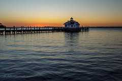 Here Comes the Sun (John H Bowman) Tags: northcarolina outerbanks darecounty manteo lighthouses atlanticlighthouses nclighthouses roanokemarsheslight screwpilelighthouses replicalighthouses bays sunrises dawn reflections march2017 march 2017 canon3514l