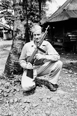 Don't Mess with Frank Knapp (Knapp Family History Photos) Tags: wwii knapp 800th mp military police milne bay new guinea