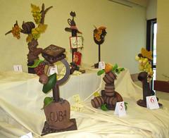 Pièces montées en chocolat (Kermitfrog ;-)) Tags: salonduvinetchocolat chocolat 39 jura authume bourgognefranchecomté piècemontée