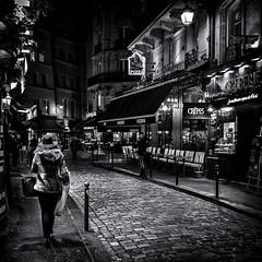 crêpes et pizzas (christiandumont) Tags: monochrome streetphotography streetphoto streetlife street blackandwhite blackwhite black white bw nb noiretblanc night nuit rue paris ruedeparis x100f fujifilm