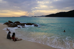 Enjoying the unspoiled sunset beach on Koh Lipe (B℮n) Tags: kolipe kohlipe เกาะหลีเป๊ะ kohlippy adangrawi archipelago ploysiam speedboat national park kohturatao koturatao kohlipeh nationalparkkohtarutao tarutao bounty island thailand anadamansea sandy beach pakbara marinepark snorkling adang rawi tourism vacation holiday coral reef tropical fish nemo protectedarea chaolay chaoley boat palmtree coconuts crystal clear water seawater siam seagypsies longtail nature reserve province satun blue cyan thai sunrise bulowbeach deserted girl woman sunbathing lowseason rainyseason relax paradise swimming solitude unspoiled 100faves topf100