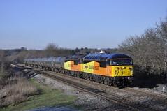 56049-56090 6e32 Preston Docks to Lindsey at Crofton 23-01-2019 (ross 47222) Tags: 56049 56090 6e32 crofton colas rail grids