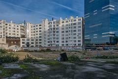 Contrast (jefvandenhoute) Tags: belgium belgië brussels brussel urban decay tower contrast light shapes