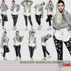 SEmotion Female Bento Modeling poses set 52 (Marie Sims) Tags: ao animations animation avatar anim animaitons animaions animated aohud animarions amused event 3d expression equal10 release review trendy trend hud funny inworld pose poses posing photographer photosl photo ptoho