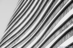 Curved Beijing (tomaso.belloni) Tags: abstract blackandwhite building city facade house nobody pattern photography asia beijing china wall window