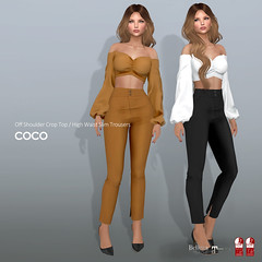 COCO New Release @Uber (cocoro Lemon) Tags: coco newrelease uber offtheshoulder trousers secondlife fashion mesh maitreya slink belleza