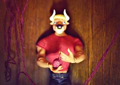 The Third Sacrifice Approached (GothGeekBasterd) Tags: minotaur doll mattel boy monster high sdcc 2014 exclusive greek mythology mythical creature bull labyrinth manny taur male macro beast