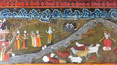 Krishna, le divin bouvier (fort Junagarth, Bikaner, Inde)