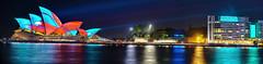 Sydneyland (John_de_Souza) Tags: johndesouza sydneyland panorama sonya7rii vividsydney sydney night lights laserlight
