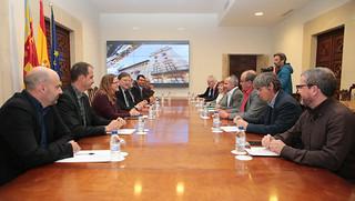 El president de la Generalitat, Ximo Puig, recibe en audiencia al secretario general de la Unió de Llauradors i Ramaders, Carles Peris, y a otros miembros de su Comisión Ejecutiva. (07/01/2019)