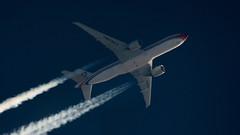 China Cargo Airlines (Robert Ćwikliński) Tags: b77w boeing airplane china cargo airlines sky spotting rnav plane aviation contrails