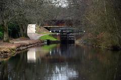 Basingstoke Canal Deepcut 14 January 2019 008 (paul_appleyard) Tags: basingstoke canal deepcut surrey january 2019 lock gates reflection reflections reflected