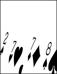 15 two, 15 four and a pair is six (Bob R.L. Evans) Tags: cribbage composition unusual elegance stylish numbers cards 8s 7s highcontrast whitespace negativespace symbolspa cardspade cardheart carddiamond diamond hearts graphic