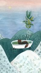 Herbal bath (mhasegawa165) Tags: naturalcare green herbalbath bathtub bath landscape watercolor illustration