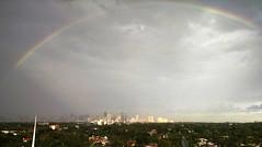 Rainbow City (MerperC) Tags: miami fl florida skyline buildings rainbow unitedstates usa us
