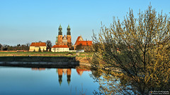 Cathedral in Poznan (Szymon Karkowski) Tags: outdoor cathedral building buildings tower architecture mirror water old port river warta people tree landscape city greater voivodeship poznań poland canon eos 1200d