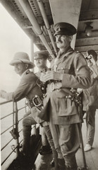 Colonel Holmes (Brigadier), Colonel Watson (O.C. Infantry), and Colonel Paton, with Captain Goodsall scanning the hills for wireless station at Bita Paka, F. S. Burnell, State Library Of New South Wales PXA 2165 (State Library of New South Wales collection) Tags: ww1 worldwarone australia expeditionary force newbritain papua guinea new engagement pacific australian burnell hebertshoe german rabaul